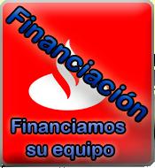Financiamos tú equipo con el Banco Santander.